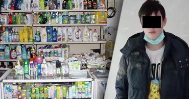 Полиция задержала двух подростков, ограбивших столичный магазин. Фото: Point.md.