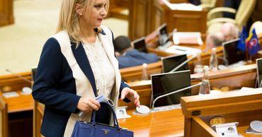 Виолетта Иванов пришла в парламент с сумкой Prada за 2700 долларов.