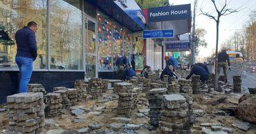 Начались работы по снятию старого покрытия на улице Александра Пушкина.