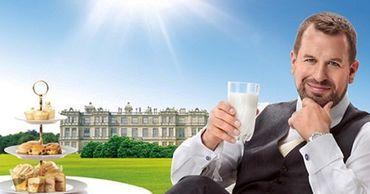Внук британской королевы снялся в рекламе молока для китайского ТВ. Фото: Point.md.