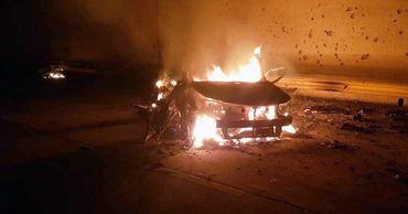 Fox News показал фото взорванной машины Сулеймани.