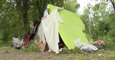 В лесополосе на Рышкановке поселились три семьи ромов.