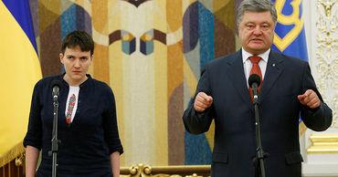 """Порошенко """"проиграл"""" страну, когда подписал минские соглашения, заявила Савченко."""