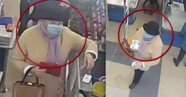 Полиция разыскивает подозреваемую в краже кошелька в столичном магазине