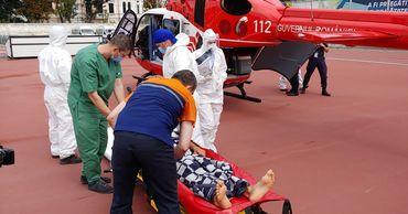 Жителя Кагула на вертолете доставили в Кишинев для лечения.