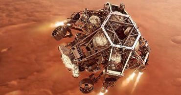 НАСА опубликовало видео посадки ровера Perseverance на Марс.
