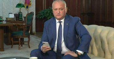 Президент РМ Игорь Додон.