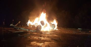 Страшное ДТП в Дрокии: водитель заживо сгорел в перевернувшемся авто.