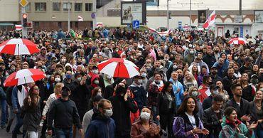 МВД Белоруссии заявило об уменьшении числа участников протестов.