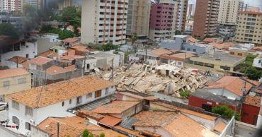 В бразильском городе Форталеза рухнул семиэтажный жилой дом