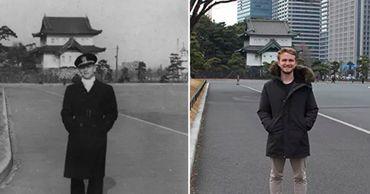 Парень воссоздал фото 73-летней давности и поразил Сеть одной деталью.
