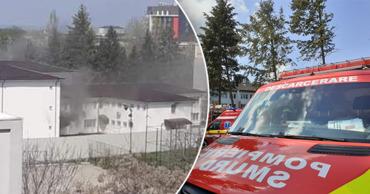 В больнице в Румынии вспыхнул пожар.