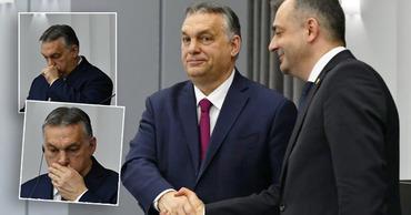Орбан пожал руку Кику, откашлявшись до этого в ладонь. Фото: Point.md