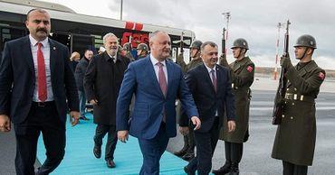 Молдавская делегация во главе с Игорем Додоном совершает официальный визит в Турцию.