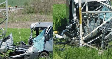 Микроавтобус из Молдовы попал в ДТП в Болгарии.