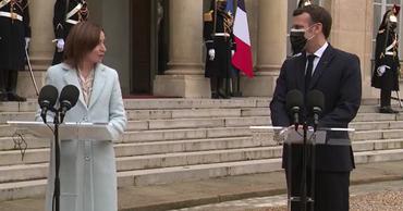 Майя Санду совершает официальный визит в Париж.