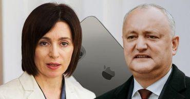 Санду: Додон купил самый дорогой iPhone на государственные деньги.