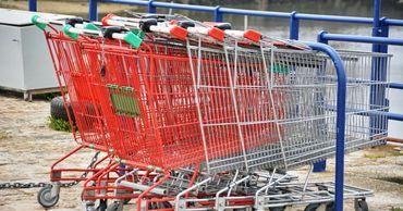 В немецком городе неизвестные перекрыли дорогу тележками из супермаркета.