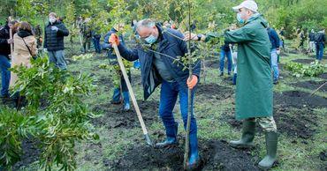 Игорь Додон принял участие в запуске кампании по озеленению столицы.