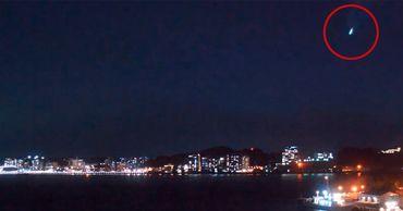 В Японии заметили особо яркую падающую звезду.