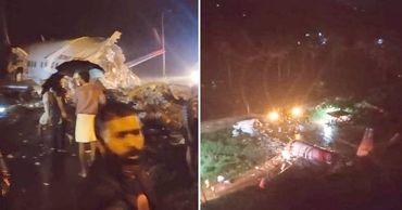 В Индии самолет потерпел крушение при посадке.