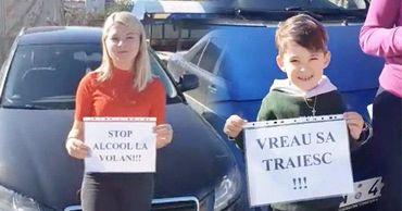 Жители села Сочитень Яловенского района организовали флешмоб в центре села.