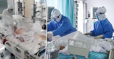 Кишиневские врачи показали, как интубируют пациента с коронавирусом.