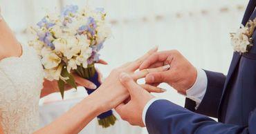 14 февраля в столице прошло несколько свадеб.