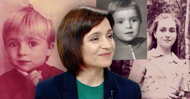 Санду показала фотографии детского и подросткового возраста. Фото: Point.md.