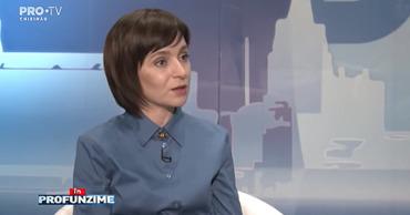 """Председатель партии """"Действие и Солидарность"""" Майя Санду."""