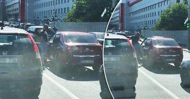 В столице водитель решил расквитаться с обидчиком в пробке. Коллаж: Point.md