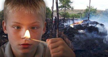 В Леова дети играли со спичками и спровоцировали крупный пожар. Коллаж: Point.md