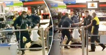 В столичном супермаркете произошла драка, полицию никто не вызвал. Коллаж: Point.md
