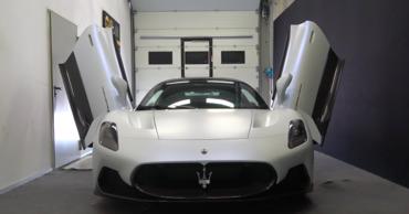 Maserati представила свой новый суперкар с «крыльями бабочки».
