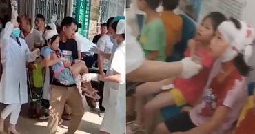 В Китае охранник набросился с ножом на школьников: пострадали 40 человек.