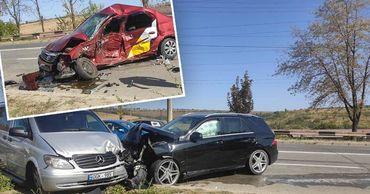 В Кишиневе произошло ДТП с участием машины такси.