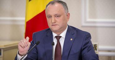 Додон: В Молдове необходимо ужесточить правила импорта.