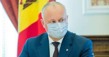 Додон призвали народ Молдовы строго соблюдать санитарные нормы.