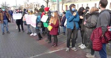 В Кишиневе проходит митинг в поддержку Навального.