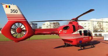 Вертолет SMURD перевез из Ясс в Кишинев девушку с травмой позвоночника.
