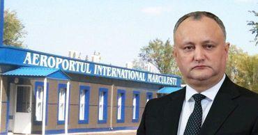 Додон: Аэропорт Маркулешт не будут ремонтировать за счет госбюджета. Фото: Point.md