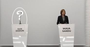 Игорь Додон не пришел на дебаты, организованные Майей Санду.