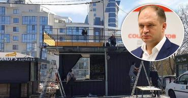 Чебан: В Кишиневе незаконно работают двухэтажные будки