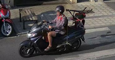 Молдаванин использовал мотоцикл для транспортировки украденных вещей.