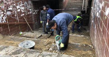 На перекрёстке Траян-Дачия-Дечебал начался ремонт подземного перехода.