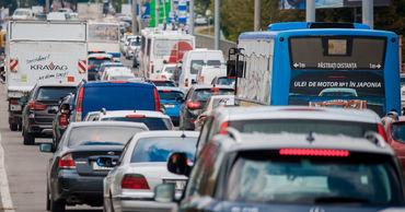 Из-за протестов движение в Кишиневе было затруднено.