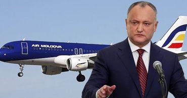 Долг  «Air Moldova» на сегодняшний день составляет 1,1 млрд леев, рассказал Игорь Додон. Фото: Point.md.