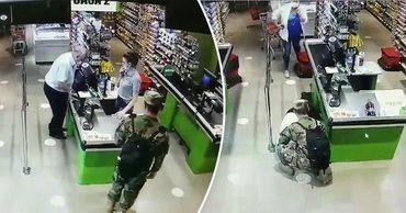 В столичном магазине военнослужащий оказал первую помощь мужчине. Коллаж: Point.md