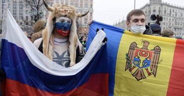 В Москве на акции в защиту Навального замечен молдавский флаг. Фото: tvrain.ru