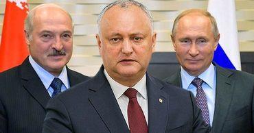 Тэбырцэ: Президенты Лукашенко и Путин являются образцами для Додона. Коллаж: Stiri.md